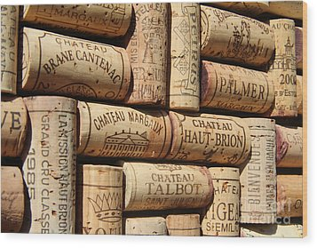 French Wines Wood Print by Anthony Jones