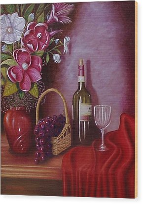 Fruit Of The Vine Wood Print by Gene Gregory