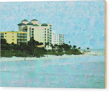Ft Myers Beachfront Wood Print by Florene Welebny