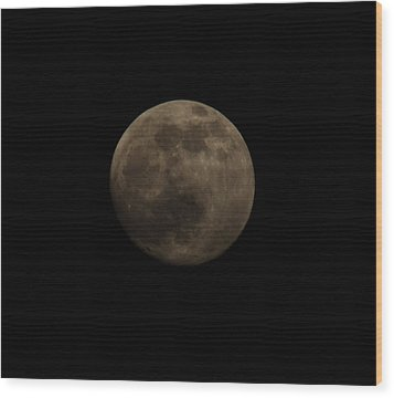 Full Moon Wood Print by Thomas  MacPherson Jr