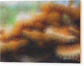Fungus Tendrils Wood Print by Ron Bissett