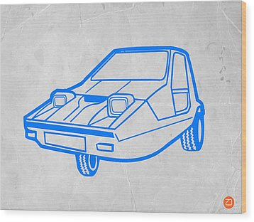 Funny Car Wood Print by Naxart Studio