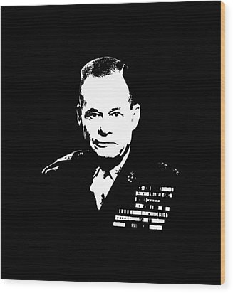 General Lewis Chesty Puller Wood Print by War Is Hell Store