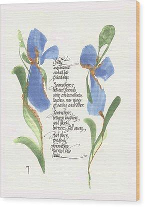 Gently Wood Print