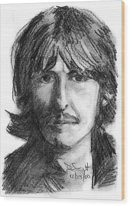 George Harrison Wood Print by Daniel Scott