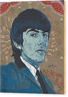 George Harrison Wood Print by Suzanne Gee