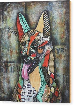 German Shepherd Wood Print by Patricia Lintner