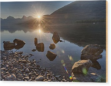 Glacier National Park 100th Anniversery Wood Print by Kevin Blackburn