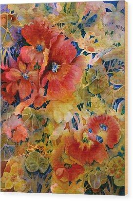 Glow Wood Print by Ann  Nicholson