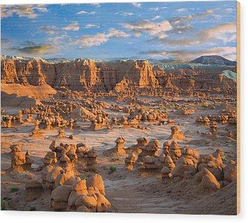 Goblin Valley State Park Utah Wood Print by Utah Images