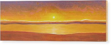 Gold Sunset Wood Print by Jaison Cianelli