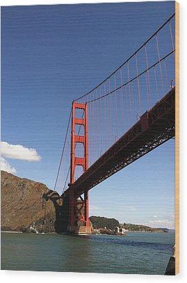 Golden Gate Bridge Wood Print by Eliot Jenkins