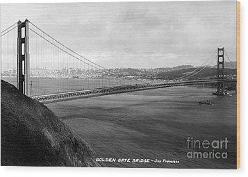 Golden Gate Bridge Wood Print by Granger