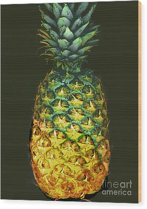 Wood Print featuring the photograph Golden Pineapple by Merton Allen