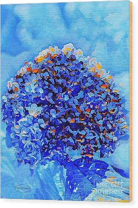 Got The Blues Wood Print by MaryLee Parker