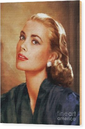 Grace Kelly, Actress And Princess Wood Print
