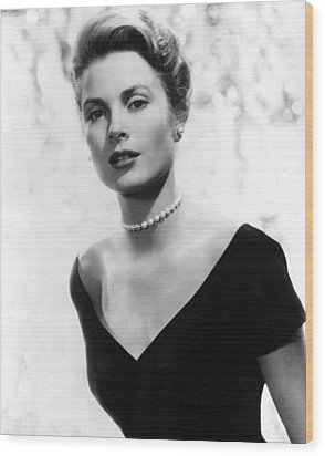 Grace Kelly Wood Print by American School