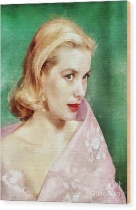 Grace Kelly By John Springfield Wood Print