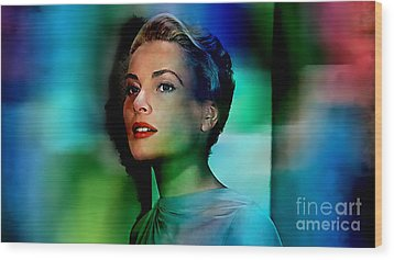 Grace Kelly Wood Print