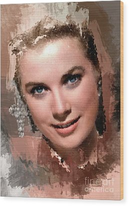 Grace Kelly, Vintage Hollywood Actress Wood Print by Mary Bassett