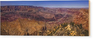 Grand Canyon Panorama Wood Print by Andrew Soundarajan