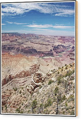 Grand Canyon View From The South Rim, Arizona Wood Print by A Gurmankin
