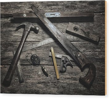 Wood Print featuring the photograph Granddad's Tools by Mark Fuller