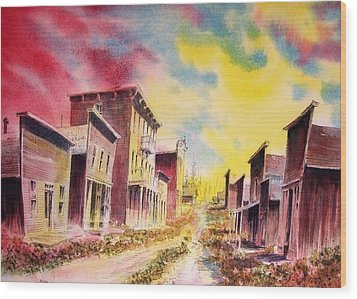Granite Ghost Town Montana Wood Print by Kevin Heaney