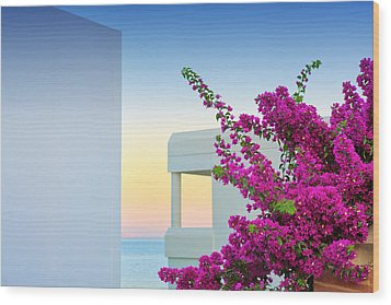 Greece 3  Wood Print by Emmanuel Panagiotakis