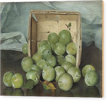 Green Plums Wood Print