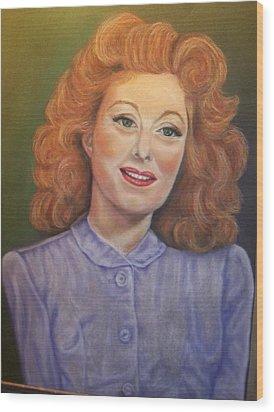 Greer Garson Wood Print by Deborah Steinmetz