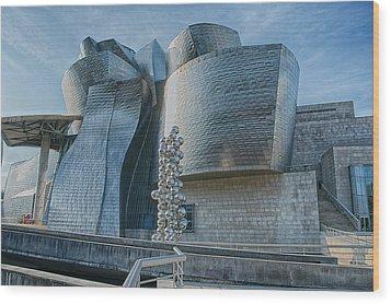 Guggenheim Museum Bilbao Spain Wood Print by James Hammond