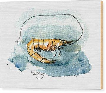 Gulf Shrimp Wood Print by Paul Gaj