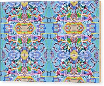 Gymnastics Wood Print by Ky Wilms