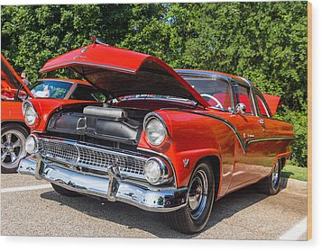 Hall County Sheriffs Office Show And Shine Car Show Wood Print