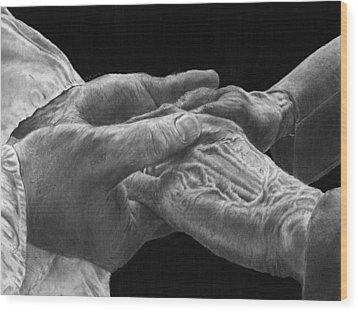 Hands Of Love Wood Print
