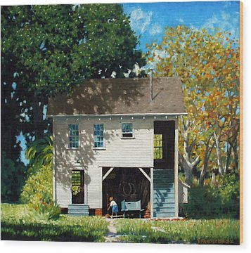 Handy Broom Wood Print by Kevin Lawrence Leveque