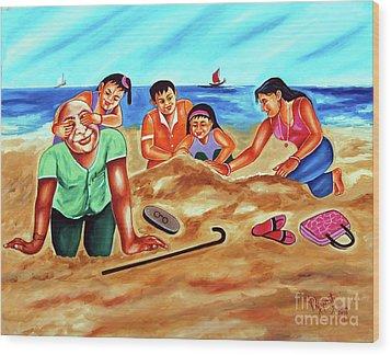 Happy Family Wood Print by Ragunath Venkatraman