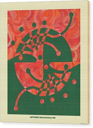 Happy Fantasy Wood Print by Heike Schenk-Arena