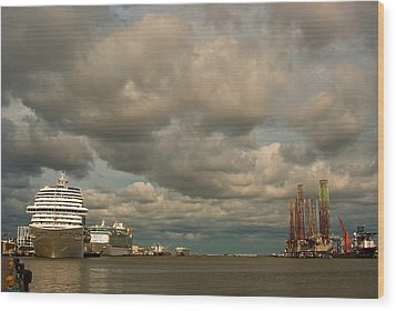 Harbor Storm Wood Print