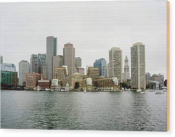 Harbor View Wood Print by Greg Fortier