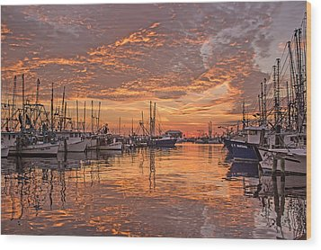 Harboring Reflections Wood Print by Brian Wright