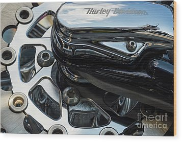 Wood Print featuring the photograph Harley Davidson 15 by Wendy Wilton