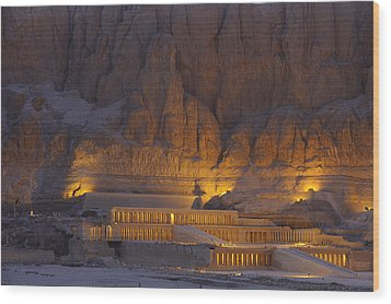 Hatshepsuts Mortuary Temple Rises Wood Print by Kenneth Garrett