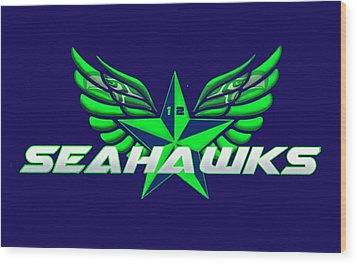 Hawks Wings Wood Print