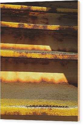 Wood Print featuring the photograph Heavy Metal by Olivier Calas