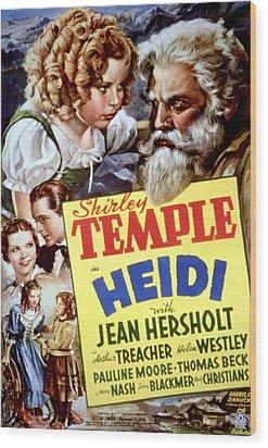 Heidi, Shirley Temple, Jean Hersholt Wood Print by Everett