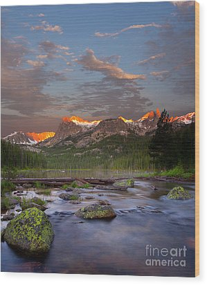 Hell Roaring Lake Wood Print by Keith Kapple