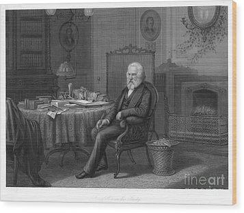 Henry Wadsworth Longfellow Wood Print by Granger