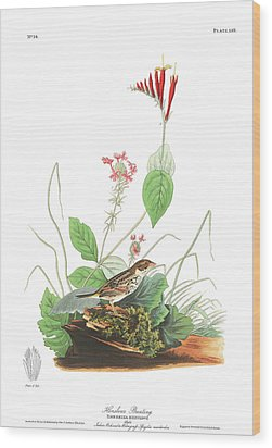 Henslow's Bunting  Wood Print by John James Audubon
